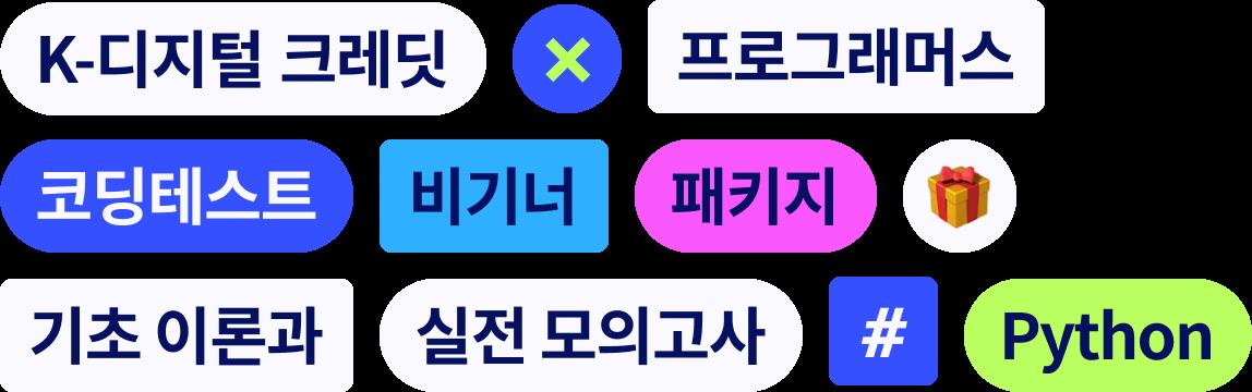 K-디지털 크레딧프로그래머스 코딩테스트 비기너 패키지 - 기초 이론과 실전 모의고사 (Python)